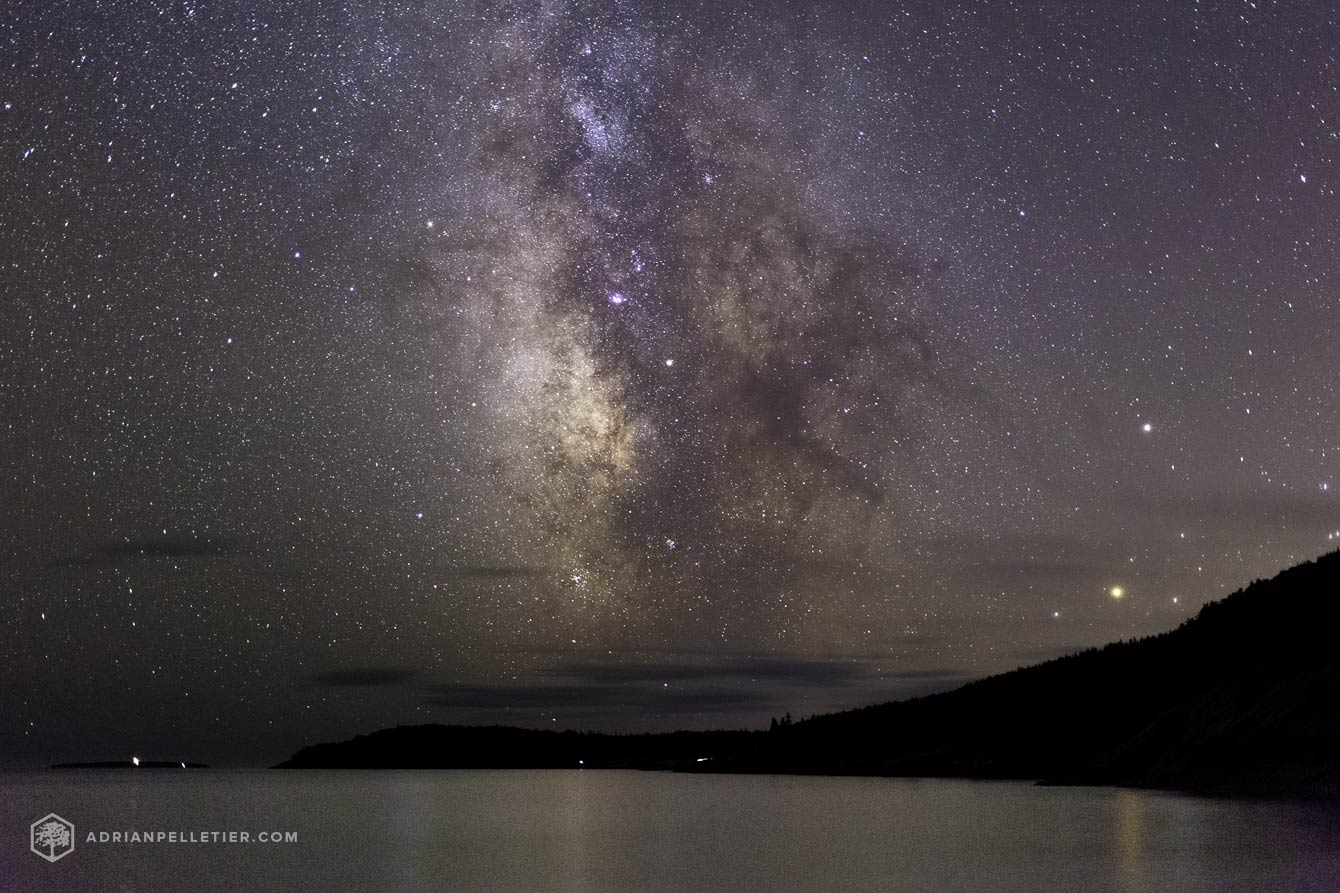 Acadia National Park at Night by Adrian Pelletier